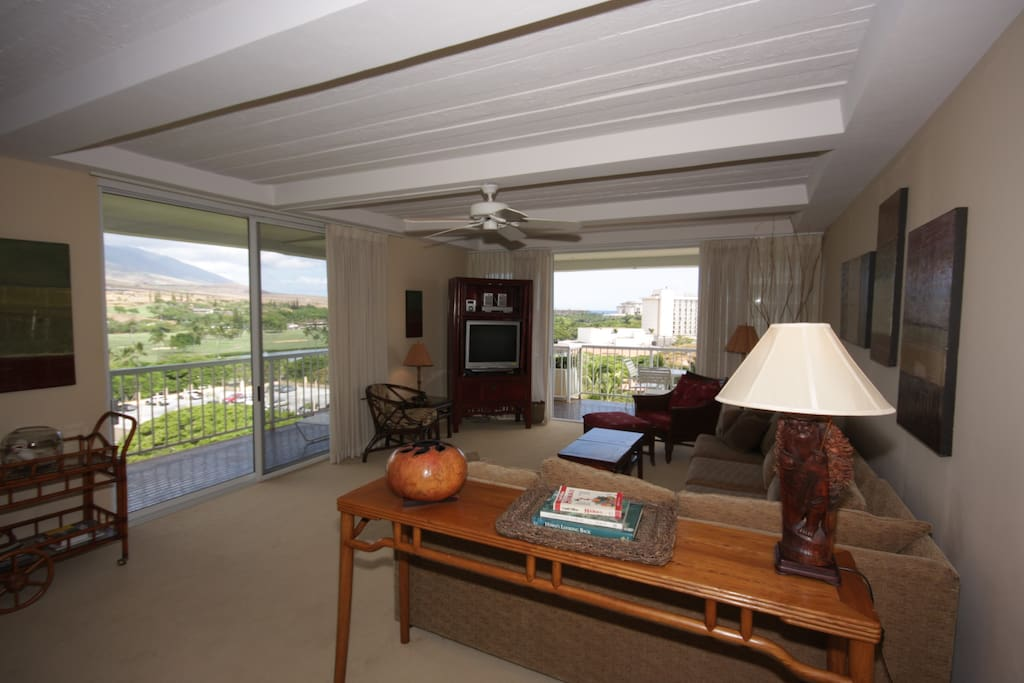 Spacious living areas with wrap around lanai for ocean and mtn views