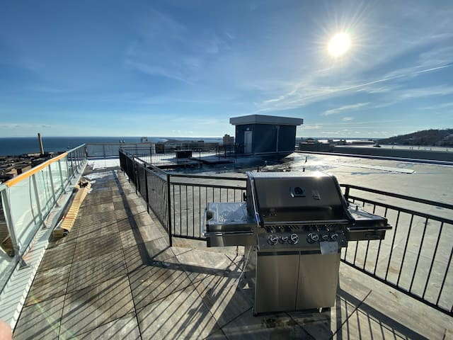 Penthouse apartment with views of Downtown Duluth