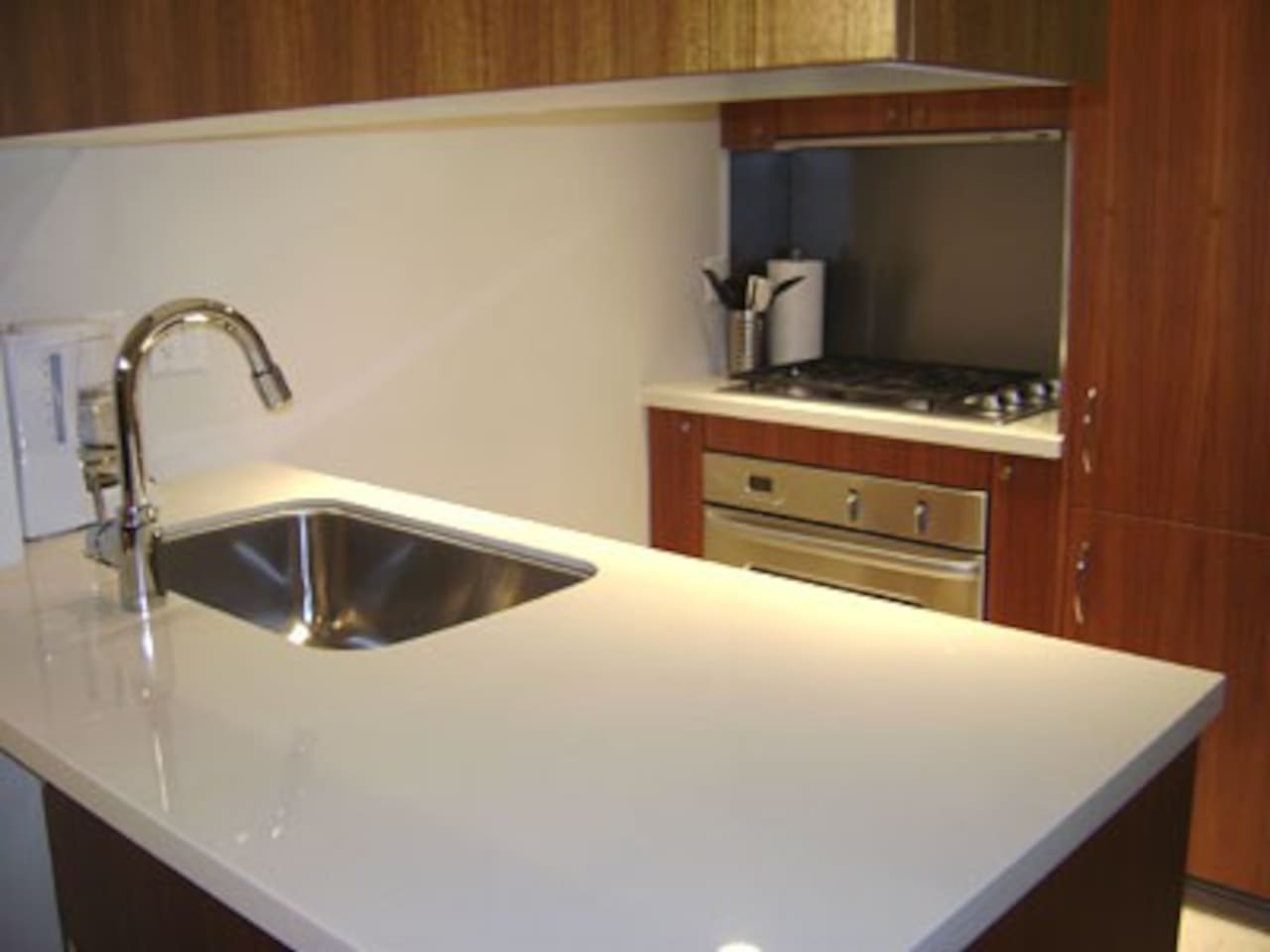 Very modern kitchen with gas stove and dishwasher