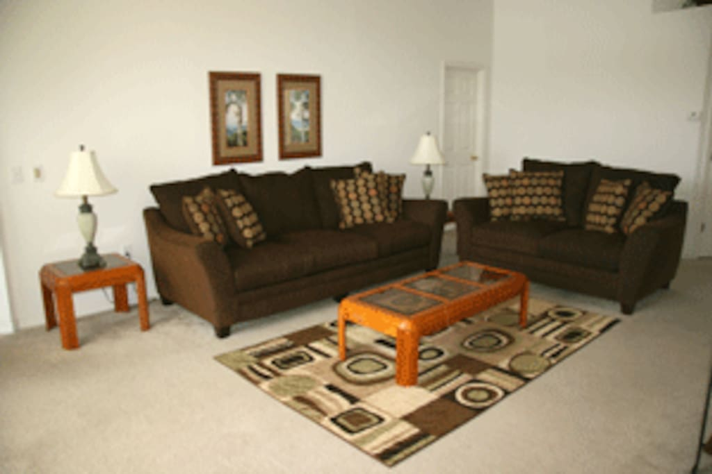 Lounge area with sofabed