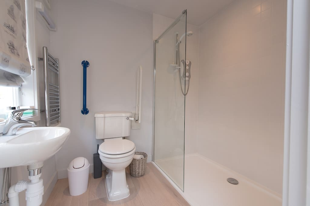 Wheelchair friendly loo and shower