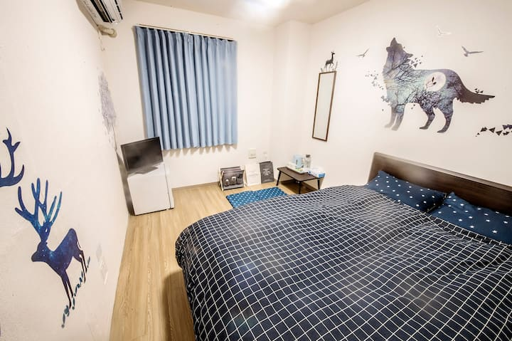 Double Room with Private Bath 3F-3 (Starry Night)