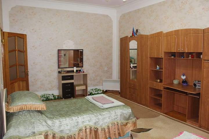 2nd Floor, 3rd Bedroom: 3 single beds, sofa, Wi-Fi,  TV, wardrobe, Air Conditioner.