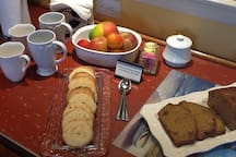 Typical morning homebaked goodies
