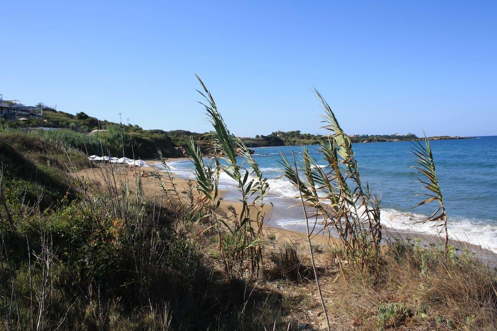 Strand in 3 km Entfernung