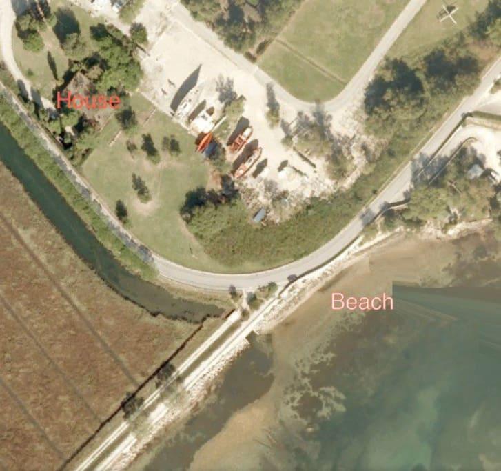 Distanza dalla casa al mare 100 mt
