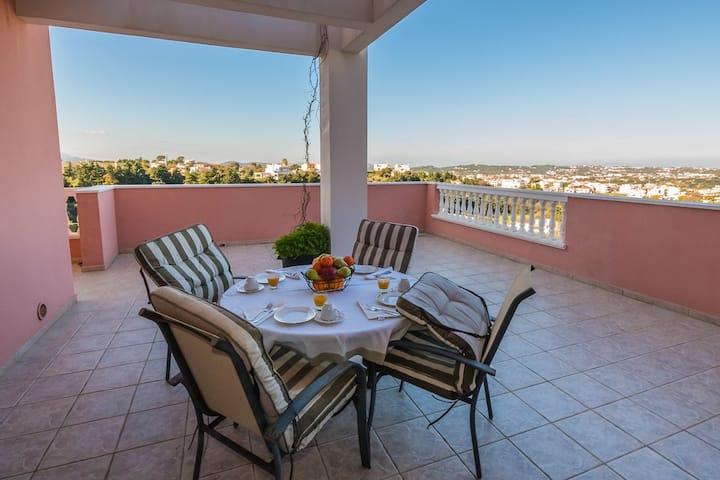 Michels Panoramic Villa, overlooking Aegean Sea