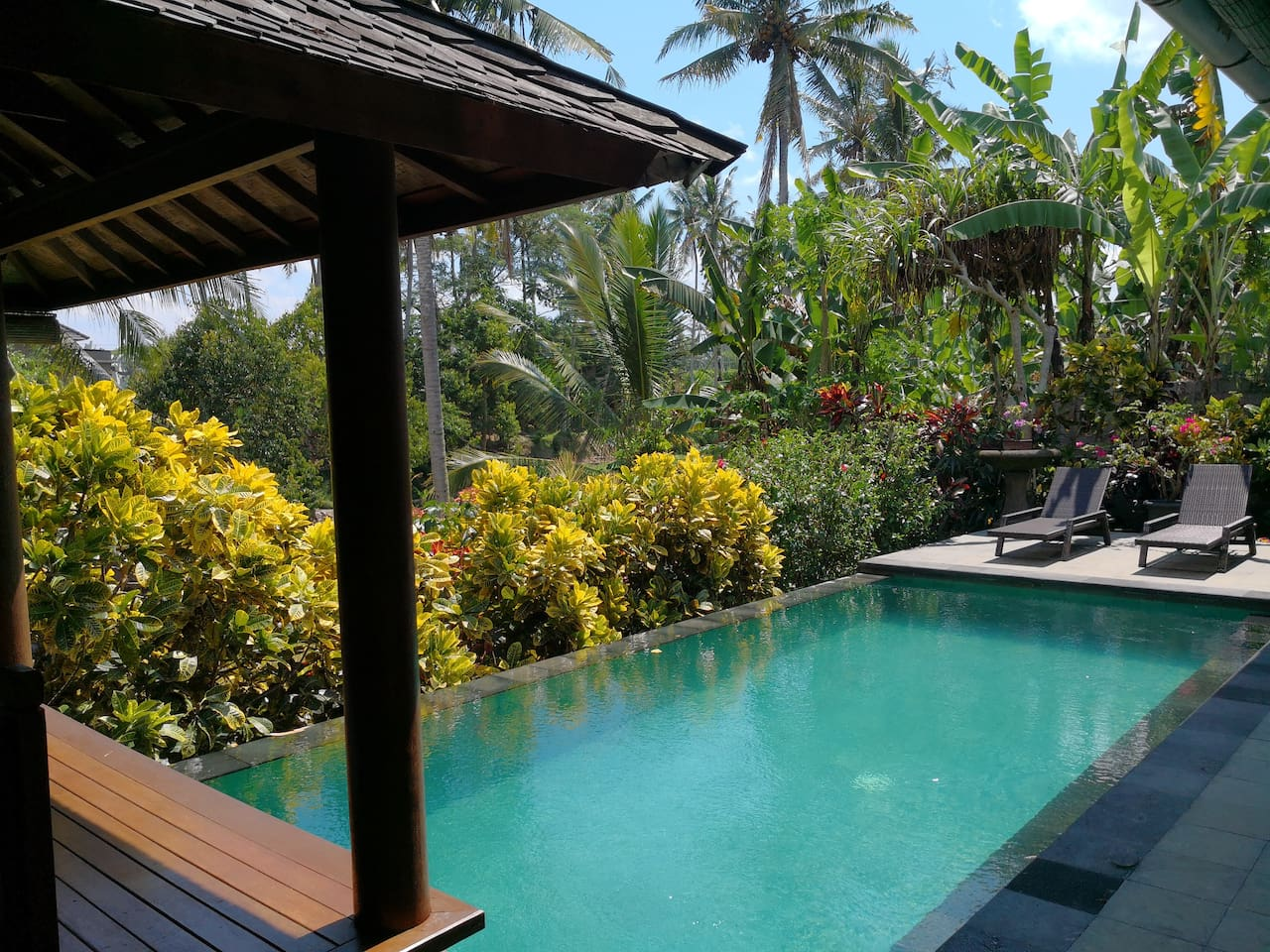 One bedroom villa with a private pool - perfect for relaxing in the sun:-)