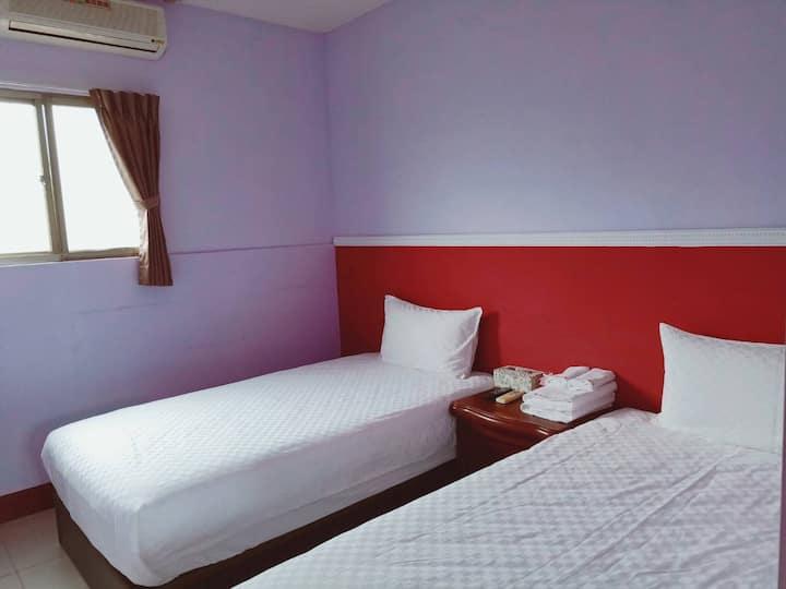 東方之珠旅宿樸實館1簡約雙床套房