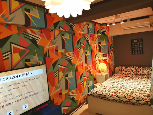 ★Central Osaka★ 3min to Kyobashi station room408