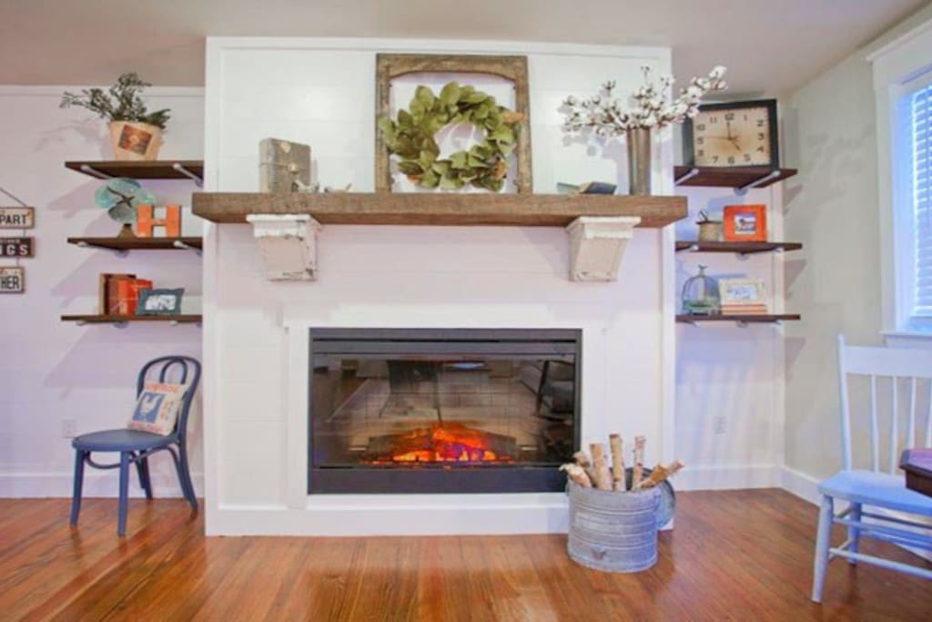 Electric Fireplace in Living