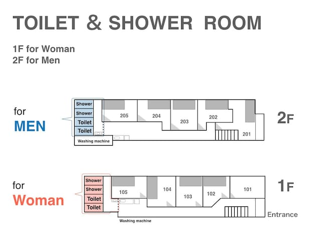 TOILET & SHOWER ROOM.