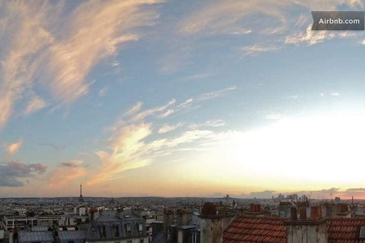 View from the balcony at sunset