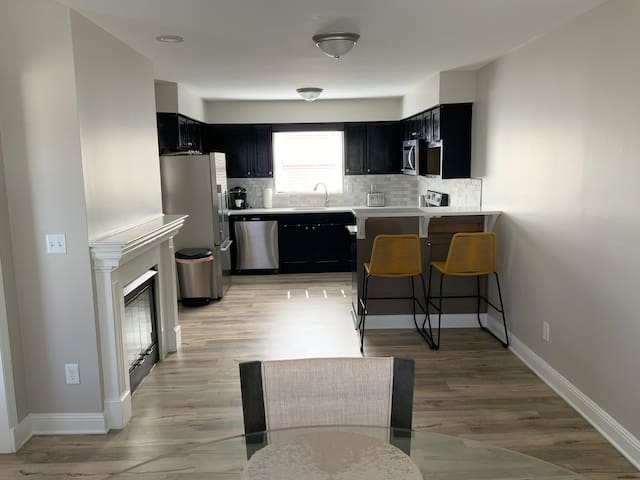 Nice open kitchen and dining room to enjoy cooking or carryout.