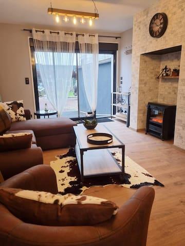 Salon et entrée  du loft