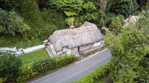 Thatched cottage, Wherwell, Test Valley Hampshire