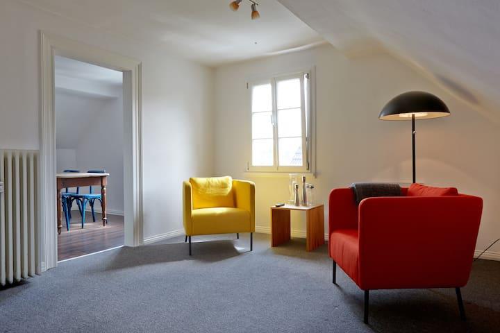 Gemütliche Dachgeschosswohnung in Fachwerkhaus - Solingen - Apartemen