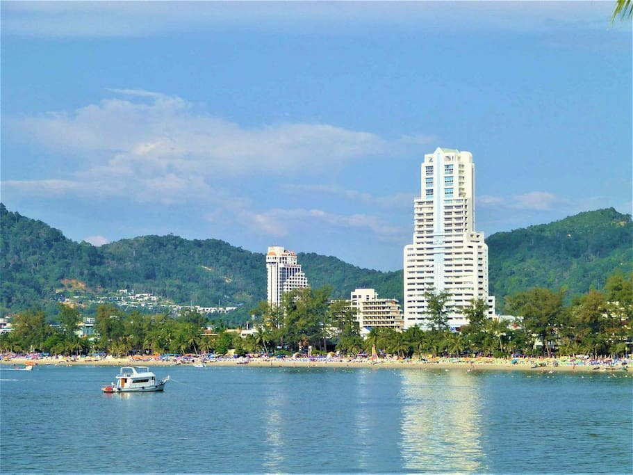 Patong Tower from the sea