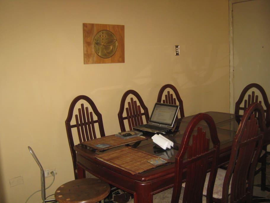 El Comedor. Dining room.