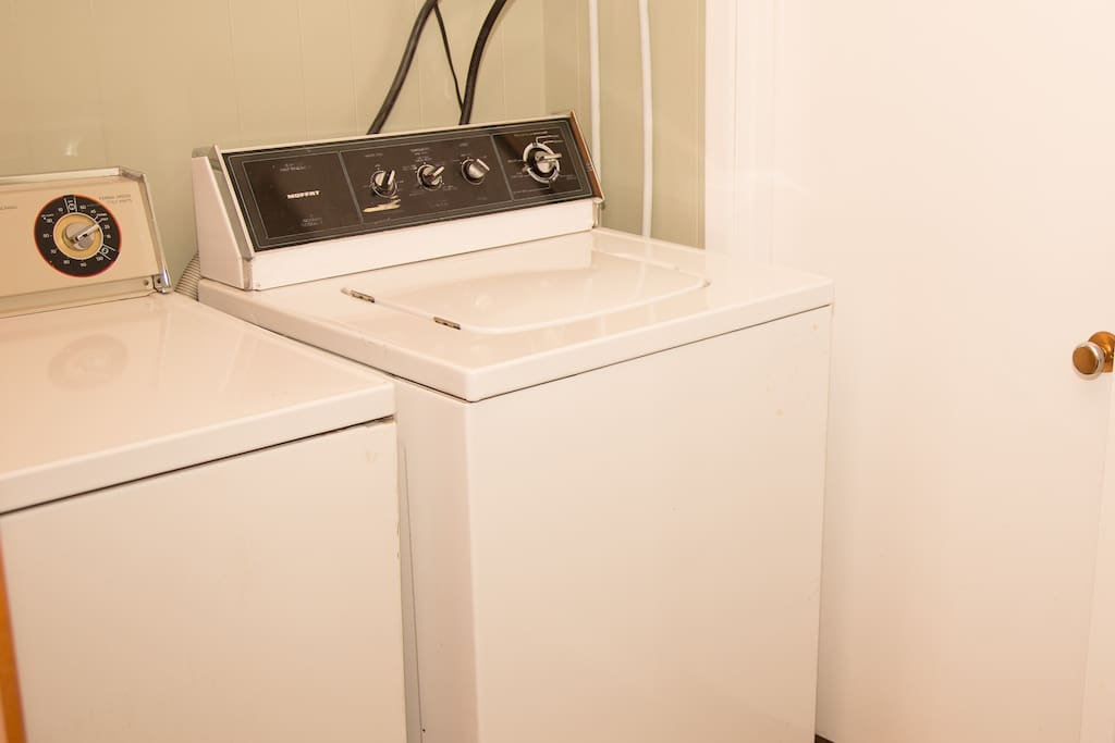 Washer and Dryer inside the bathroom