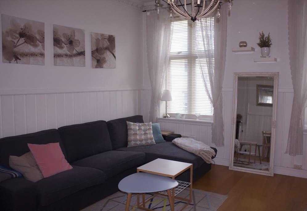 Livingroom with lagre windows