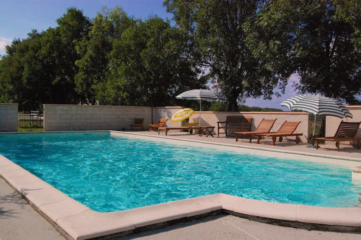Country house, pool, 10/14 guests - Fargues - Huis