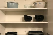 Dinner plates/bowls and mixing bowls
