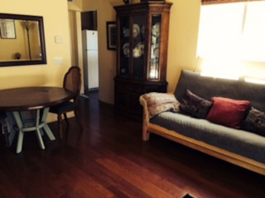 dining room with extra seating queen size futon for extra guests