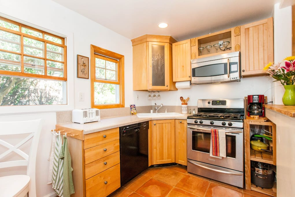 Gourmet Kitchen with dishwasher, gas range and lots of amenities.
