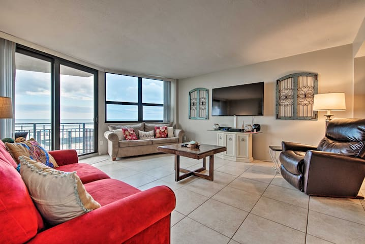 NEW! Oceanfront Condo - 11 Miles to Daytona Beach!