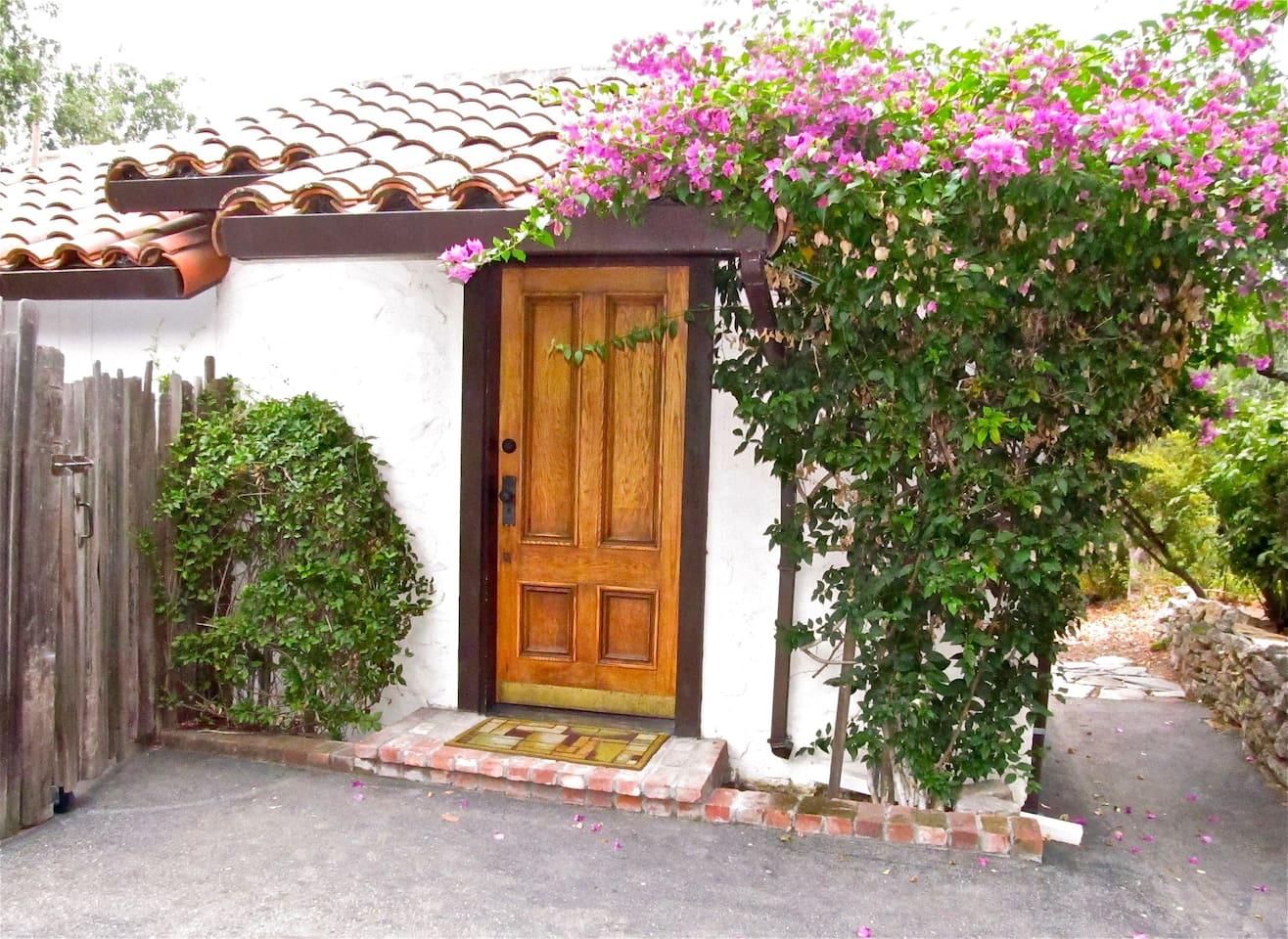 Behind this door lies your rustic, relaxing retreat.