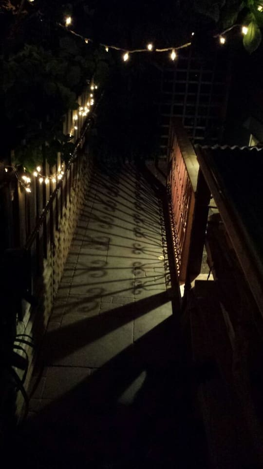 Your view as you come home at night.