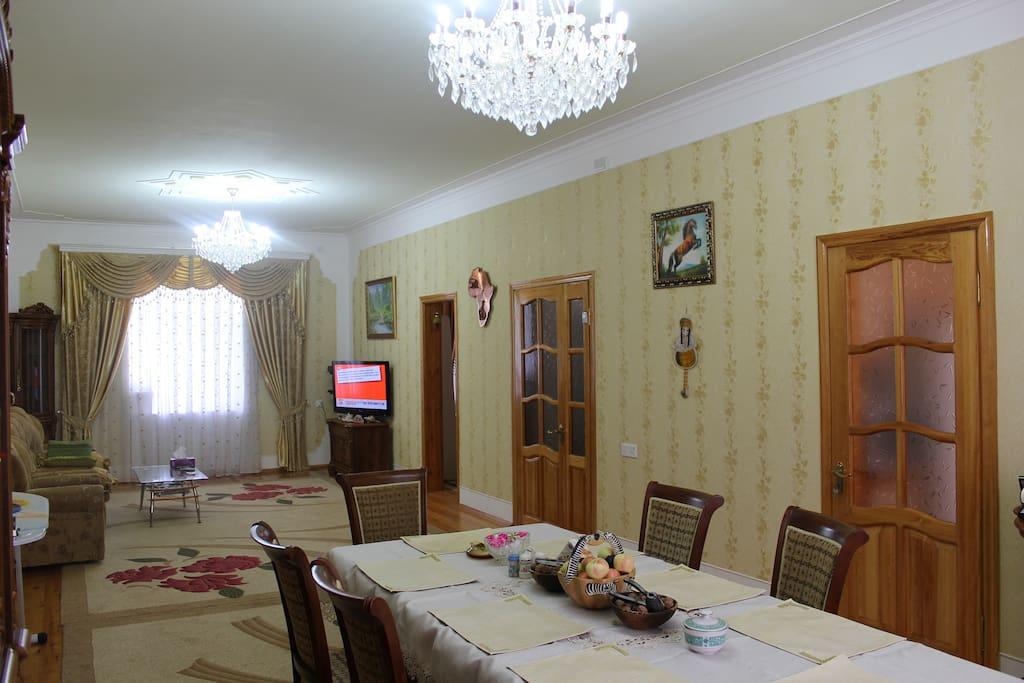 2nd Floor common sitting room. Satellite TV, Air Conditioner.