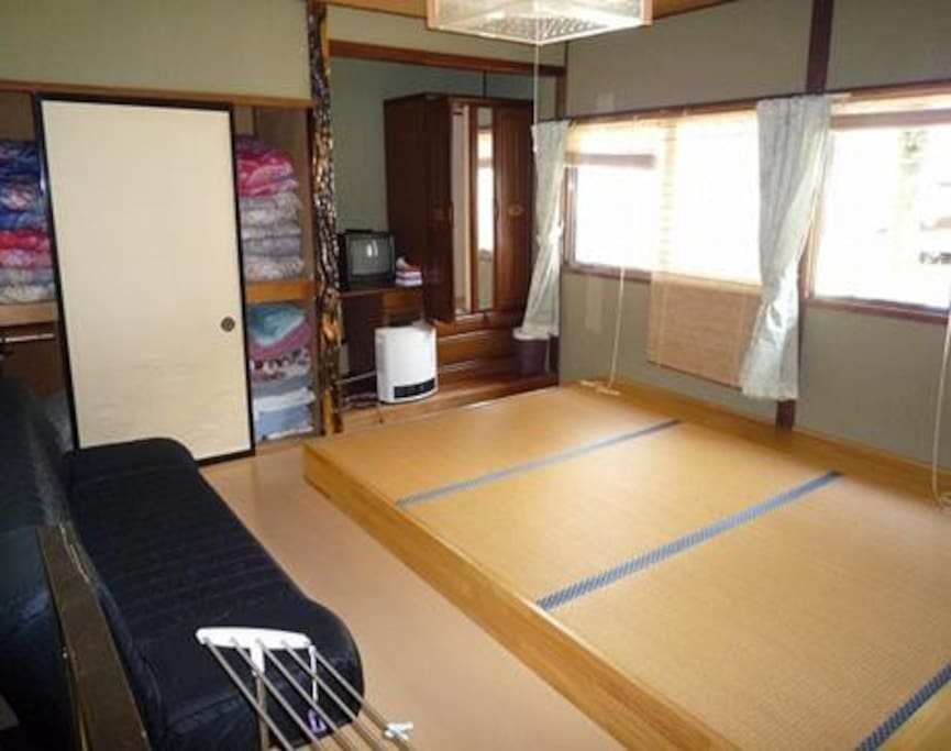 4 Japanese styled tatami rooms...