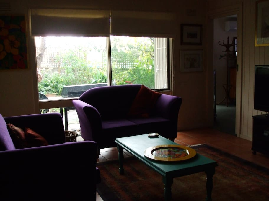 private living area,with tv, dvd,free wifi, tea/coffee