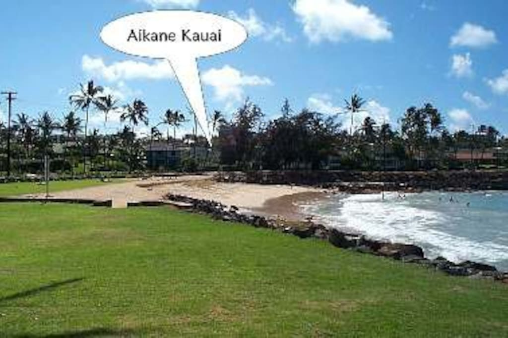 Brenneckes Beach and Poipu Beach Park.