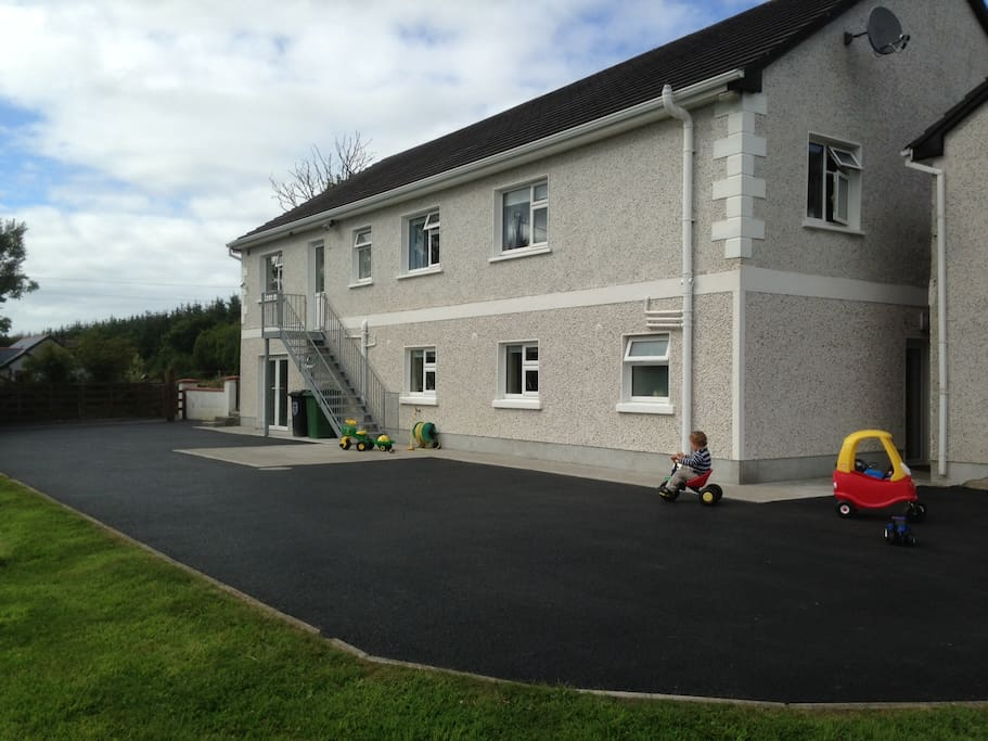 Rear of the house. Secure parking, with separate entrance to your accommodation.