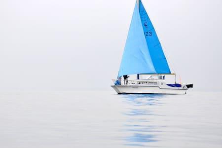 Katamaran (Catalac 9) im Hafen  - Sydals - Boot