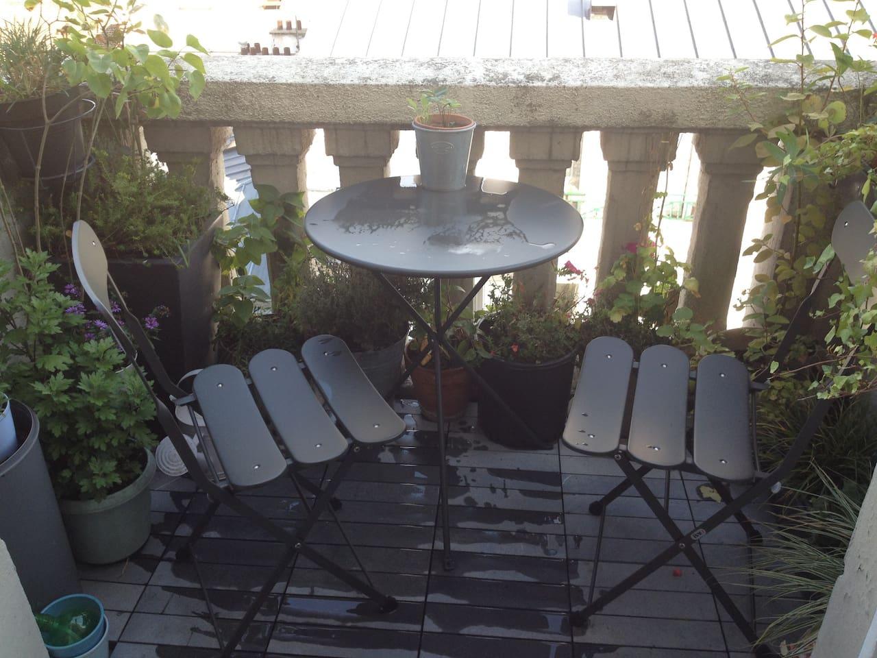 terrace: ideal for brunch