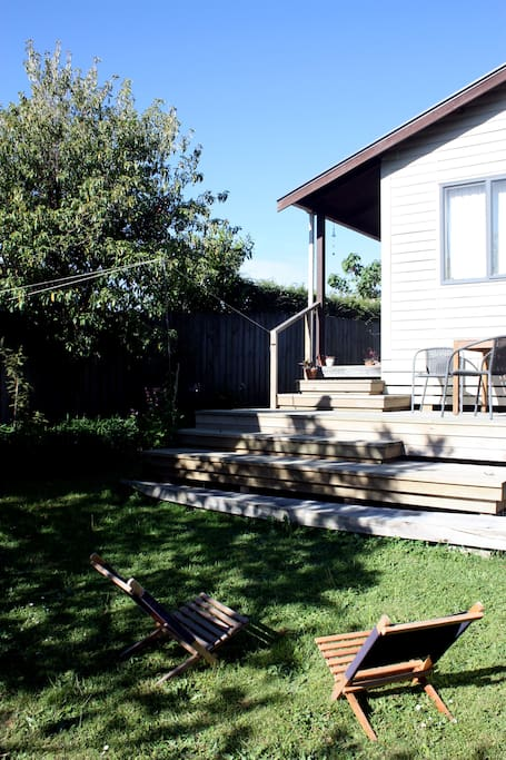 West facing deck and lawn