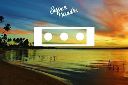 Super Paradise~ Quarto III  Triplo a 5 min do mar~