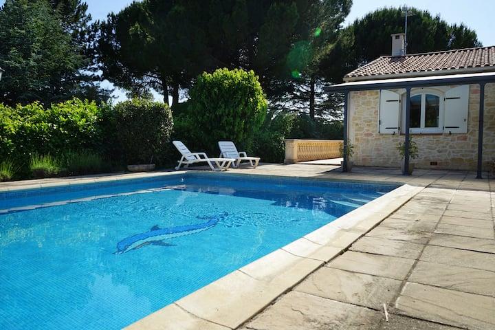 Chambres privées avec piscine en Petite Camargue