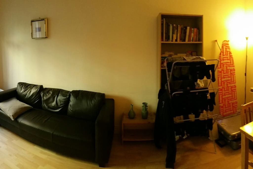 Living Room (has personal belongings ) but you can use sofa and dining table.