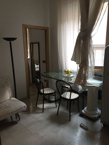 Dinner table sided at window
