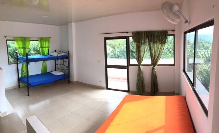 Apartamento 4 personas, zona campestre, piscina 2A