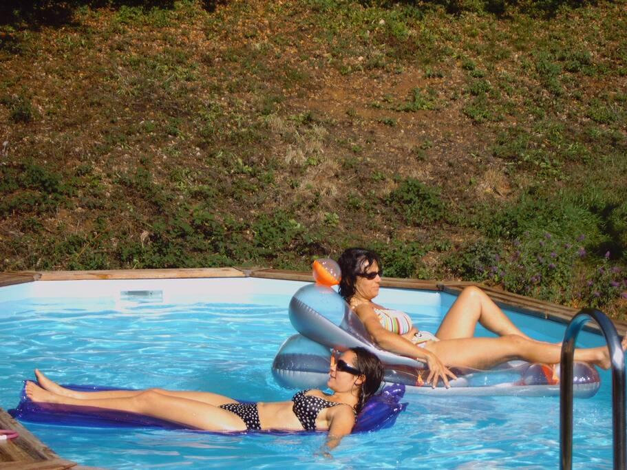 La piscine chauffée ouverte dès les beaux jours