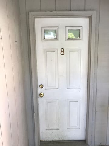 Entry door to unit