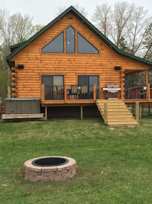 Luxury Waterfront Log Cabin Cabins For Rent In Crivitz