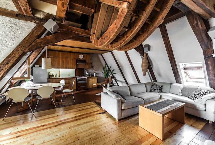 Rustic 3 bedroom loft in Old Town