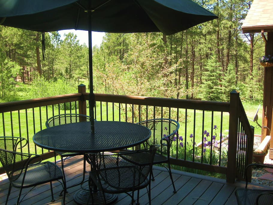Tranquility on the south-facing back deck.